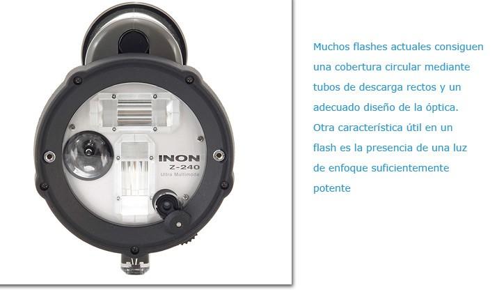Tubos de descarga en un INON Z-240