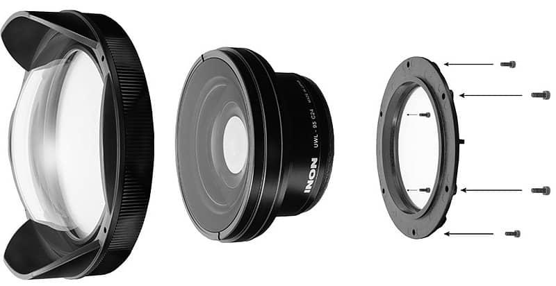 la instalación de la Dome lens Unit es sencilla y puede hacerla el usuario