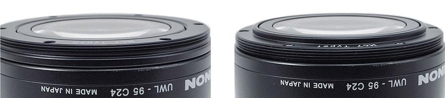 2 monturas de 67 mm diferentes para adaptarse a distintas cajas estancas